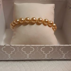 Jewelry - Round Freshwater Pearl Bracelet  Pink
